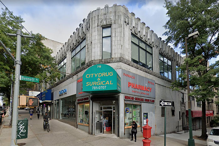 Citydrug & Surgical Pharmacy located at the corner of West 181 Street and Bennet Avenue in Washington Heights NYC